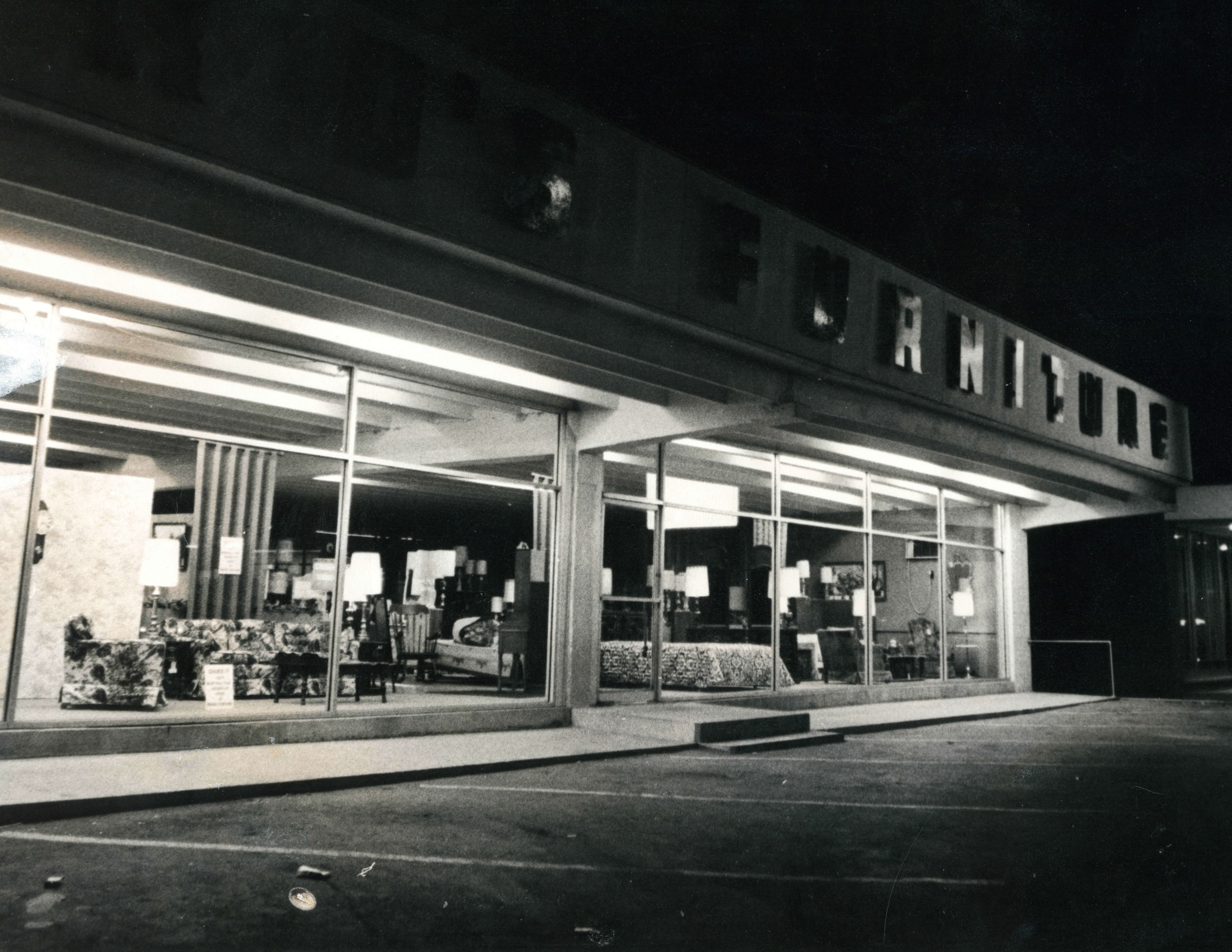 1969 photo of Ford's Furniture